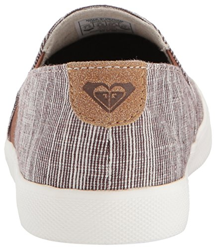 Roxy Womens Atlanta Slip On Scarpa Sneaker Di Moda, Cioccolato, 8,5 M Us