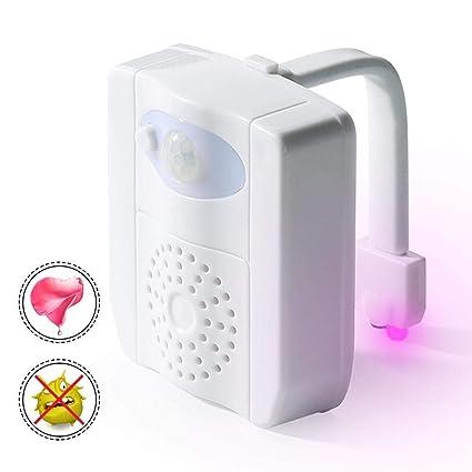 Leegoal Luz Nocturna para Inodoro, con Sensor de Movimiento UV avanzado, LED para Inodoro