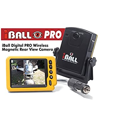 Iball Digital Pro Wireless Magnetic Trailer Hitch Rear View Camera: Car Electronics