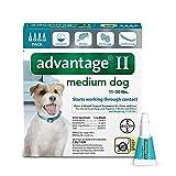 Bayer Advantage II Flea and Lice Treatment for Medium Dogs, 11 - 20 lb, 4 doses