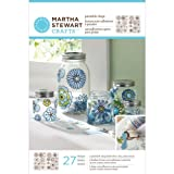 Martha Stewart Crafts Outline Glass Cling, 33265 Modern Blossoms