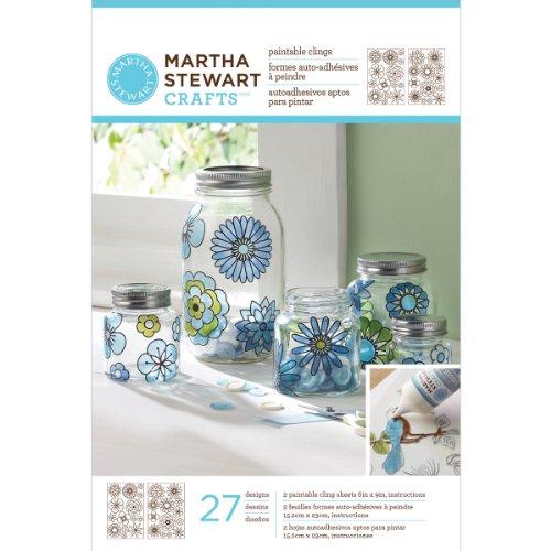Martha Stewart Crafts Outline Glass Cling, 33265 Modern Blossoms by Martha Stewart Crafts