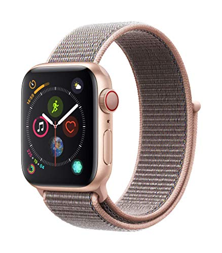 Apple Watch Series 4 (GPS + Cellular, 40mm) - Gold Aluminum Case with Pink Sand Sport Loop