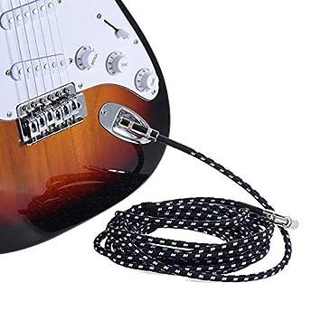 Cable de guitarra eléctrica Pro de 6 metros con conector de 1/4 pulgadas de ángulo recto a derecho: Amazon.es: Bricolaje y herramientas