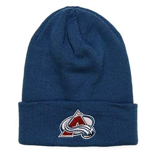 Reebok Mens 2017 NHL Basics Cuffed Knit Hat (One Size, Colorado Avalanche) KR59Z