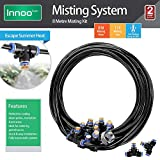 Innoo Tech Misting Cooling System 26.2FT (8M) Misting Line + 11 Brass Mist Nozzles + a Brass Adapter(3/4) Outdoor Mister for Patio Garden Greenhouse Trampoline for waterpark