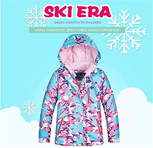 Baby Girls Kids Winter Warm Outdoor Mountain Waterproof Windproof Snowboarding Skiing Jackets with Snow Ski Bib Pants