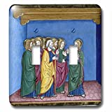 3dRose lsp_82160_2 Christianity, Codex Of Predis, Royal Library, Turin, Italy Eu16 Pri0160 Prisma Double Toggle Switch