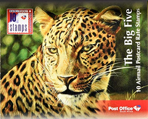 The Big Five - Book of 10 South African Airmail Stamps