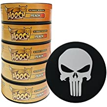 Hooch Herbal Snuff or Chew - 5 Can - Includes DC Skin Can Cover (Peach Rough) (Punisher Skin)