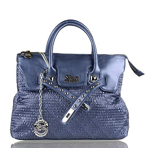 Pon Secret main femme 34x27x12 Pon CM Bleu Sac à bleu FAFOqx5fn