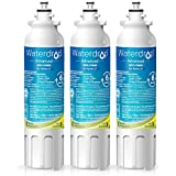 Waterdrop NSF 53&42 Certified LT800P Replacement Refrigerator Water Filter, Compatible with LG LT800P, ADQ73613401, Kenmore 9490, 46-9490, 469490, ADQ73613402, Advanced, 3 Pack