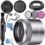 Sony E 30mm f/3.5 Macro Lens SEL30M35 + 49mm 3 Piece Filter Kit + Lens Pen Cleaner + Fibercloth + Lens Capkeeper + Deluxe Cleaning Kit Bundle