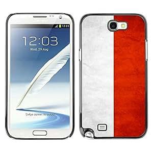 Be Good Phone Accessory // Dura Cáscara cubierta Protectora Caso Carcasa Funda de Protección para Samsung Note 2 N7100 // National Flag Nation Country Indonesia