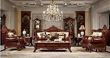 Ma Xiaoying Echtes Leder, Traditioneller Collection Wohnzimmer Möbel Set  (Sofa, Liebesschaukel Und Stuhl