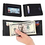 Rachiba Leather Bifold Wallet With Money Clip - Black Genuine Leather Wallet