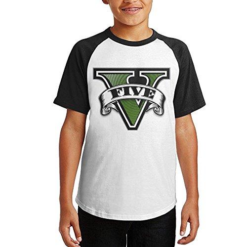 Pelican Wii - GTAV Logo Fashion 100% Cotton Kids Raglan Tshirts