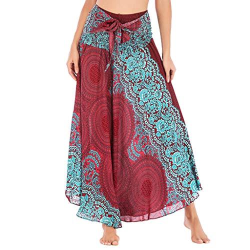 Kiss French Jacket (ANJUNIE Women Long Hippie Bohemian Gypsy Boho Flowers Elastic Waist Floral Halter Skirt (Red1,Free))