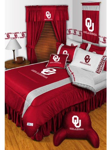 Sports Coverage OKLAHOMA SOONERS 5PC TWIN BEDDING SET New...