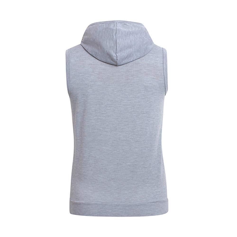 Permen Undershirt for Men Summer Casual Simple Solid Sleeveless Zipper Slim Fit Tank Tops Vest Sports Blouse