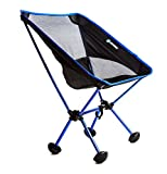 Terralite Portable Camp Chair. Perfect For Camping, Beach, Backpacking & Outdoor Festivals. Compact & Heavy Duty (Supports 350 lbs). Includes TerraGrip Feet- Won't Sink in the Sand or Mud.