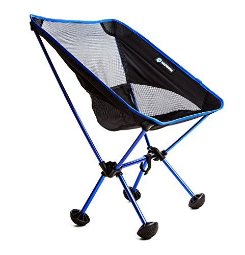 WildHorn Outfitters Terralite Portable Camp / Beach Chair (Supports 350 lbs) with TerraGrip Feet - Blue