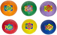 School Smart Natural Rubber Playground Balls - 8 1/2 inches - Set of 6 - Assorted Colors