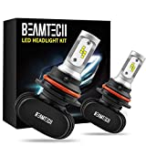 BEAMTECH 9007 LED Headlight Bulb,CSP Chips 50W 8000 Lumens 6500K Xenon White Extremely Bright Conversion Kit of 2
