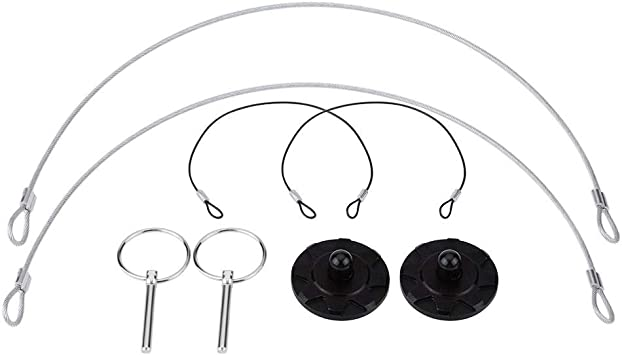 Racing 2 PCS Hood Pin Lock Appearance Kit Universal CNC Billet Aluminum Silver