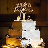 Rustic Wedding Cake Topper - Swing -WA1054