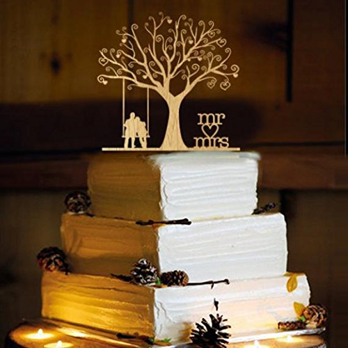 Rustic Wedding Cake Topper - Swing -WA1054