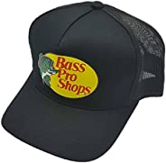Bass Pro Shop Men's Trucker Hat Mesh Cap - One Size Fits All Snapback Closure - Great for Hunting & Fi