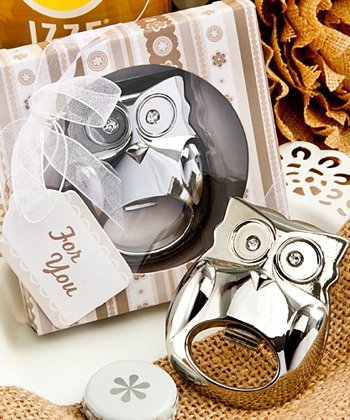 Fabulous owl bottle opener favor