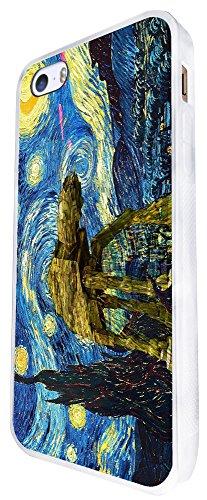 902 - Vincent Van Gogh Starry Night Star Wars Robot Design iphone SE - 2016 Coque Fashion Trend Case Coque Protection Cover plastique et métal - Blanc