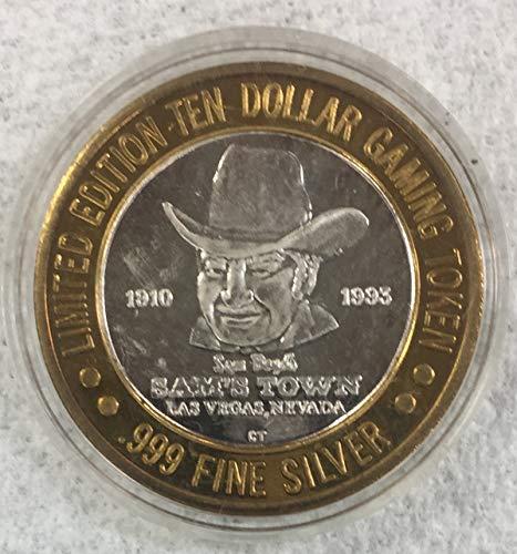 1910-1993 Sam's Town Casino, Las Vegas Nevada Limited Edition Ten Dollar Gaming Token $10 Seller .999 Fine Silver