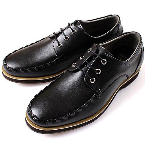 Nieuwe Polytec Lederen Mode Heren Oxfords Lace-up Boot Casual Kleding Schoenen Zwart