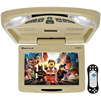 Rockville RVD12HD-BG 12 Beige Flip Down Car Monitor DVD/USB/SD Player + Games