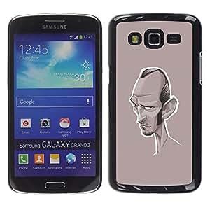 Be Good Phone Accessory // Dura Cáscara cubierta Protectora Caso Carcasa Funda de Protección para Samsung Galaxy Grand 2 SM-G7102 SM-G7105 // caricature writer actor Hollywood