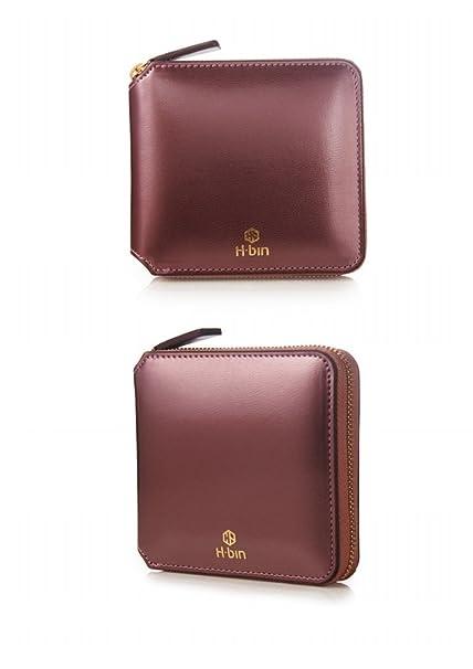 Amazon.com: h-bin cierre mujer cartera H, Card Wallet Luz ...