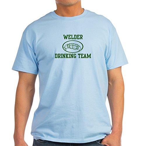 CafePress - Welder Drinking Team Light T-Shirt - 100% Cotton T-Shirt (T-shirt Team Light Drinking)