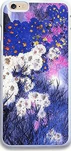 Dseason Iphone Case, Iphone 6 Plus (5.5 inch) Case New Slim Hard Unique Design Christian Quotes Ink painting white chrysanthemum