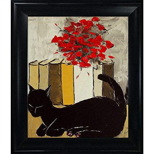 Black Cat is Sleeping II King Framed Canvas Print