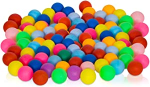 Lestiour Ping Pong Balls 40mm Pack of 50 Multi-Colored Pong Balls 2.4g, Entertainment Table Tennis Balls for Kids, Carnival Decoration, DIY Games Fun Arts and Learning Activities