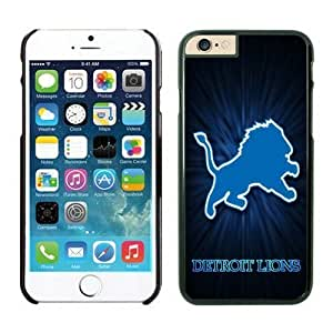 NFL iPhone 6 Plus 5.5 Inches Case Detroit Lions Black iPhone 6 Plus Cell Phone Case ONXTWKHB1463