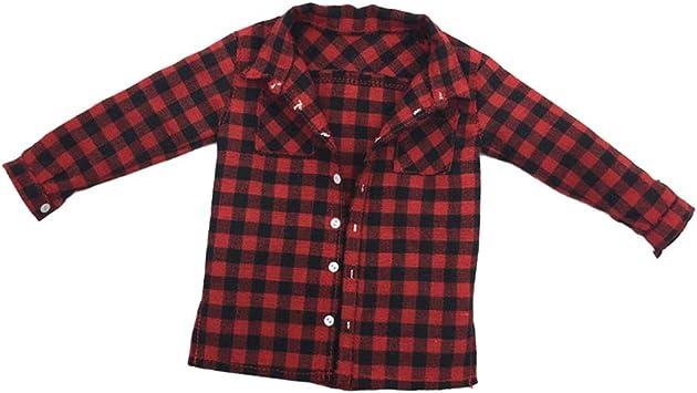 Hellery 1/6 Chaqueta de Hombres Ropa Chaqueta para Personaje Masculino Estatuilla 12 - Camisa a Cuadros 15cm Largo: Juguetes y juegos - Amazon.es