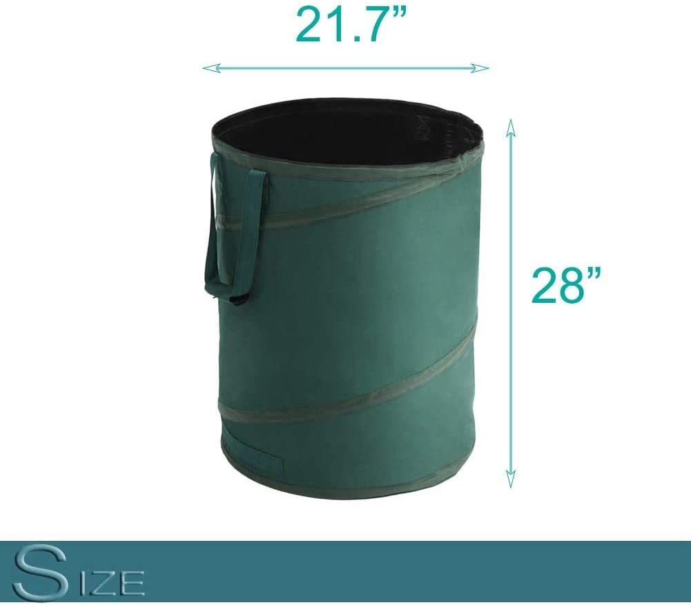 Skiway Collapsible Kangaroo Garden Bag 45 Gallon Camping Trash Bags Lawn Yard Garden Leaf Waste Container
