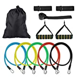 Resistance Band Set, Exercise Resistance Bands Set and weight exercise bands for Home Workouts, 11 Pcs Set with Door Anchor, Ankle Strap, Exercise Chart, and Carrying Case Review