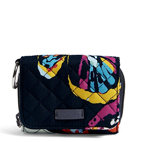 Vera Bradley Iconic RFID Card Case, Signature Cotton, Butterfly Flutter