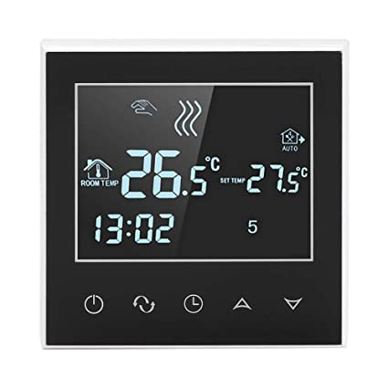 Touchscreen Digital Thermostat Raumthermostat Wandthermostat Fußbodenheizung 16A