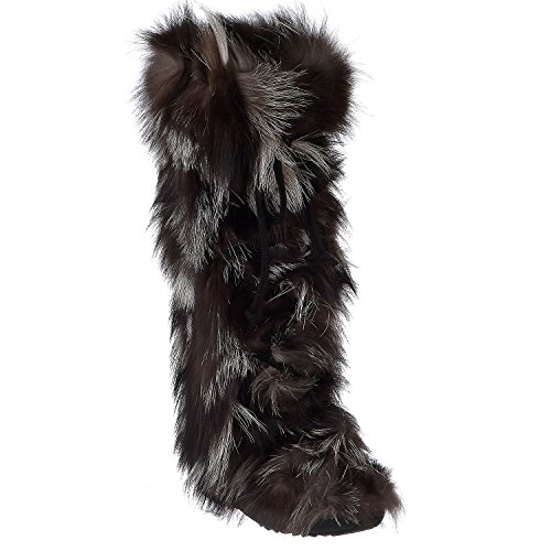 ar Fur Boot (38 EU/7-7.5 B(M), Black) ()